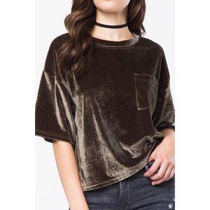 Love Riche Velvet Pocket T-Shirt